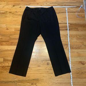 Talbots - black Slacks - elastic stretch sides